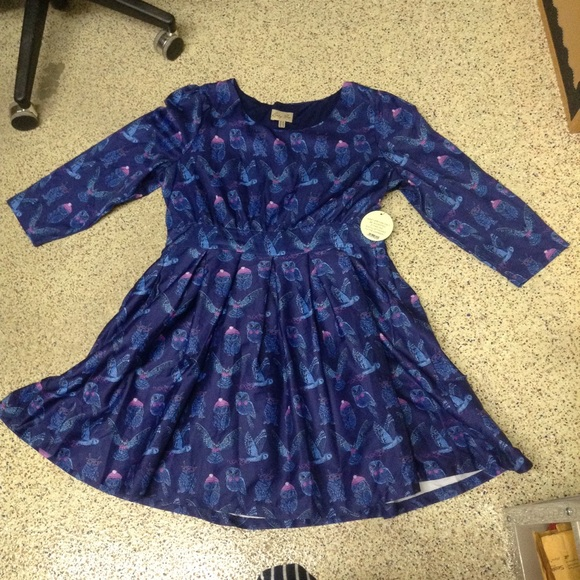 Lindy Bop owl print retro dress plus size NWT